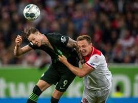 Weghorst quer ser 'gunner'. AFP
