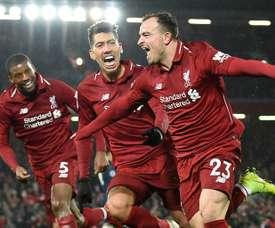 Promoção em Liverpool: sete jogadores à venda. afp