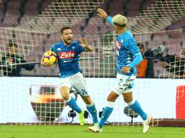 Mertens struck in the 90th minute at the Stadio San Paolo. AFP