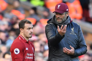 Klopp and Shaqiri have a close relationship. AFP