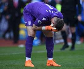 Stoke rejette une offre de Bournemouth pour Butland. AFP