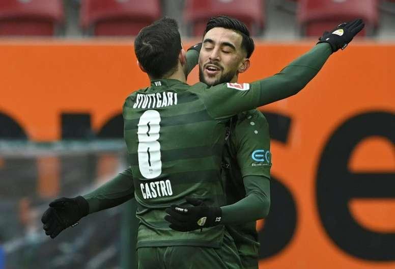 Pellegrino Matarazzo's Stuttgart beat Augsburg 1-4. AFP