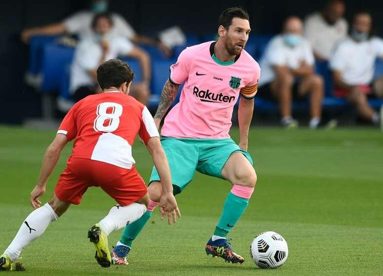 Sempre Leo: astro comanda vitória do Barça contra o Girona. AFP