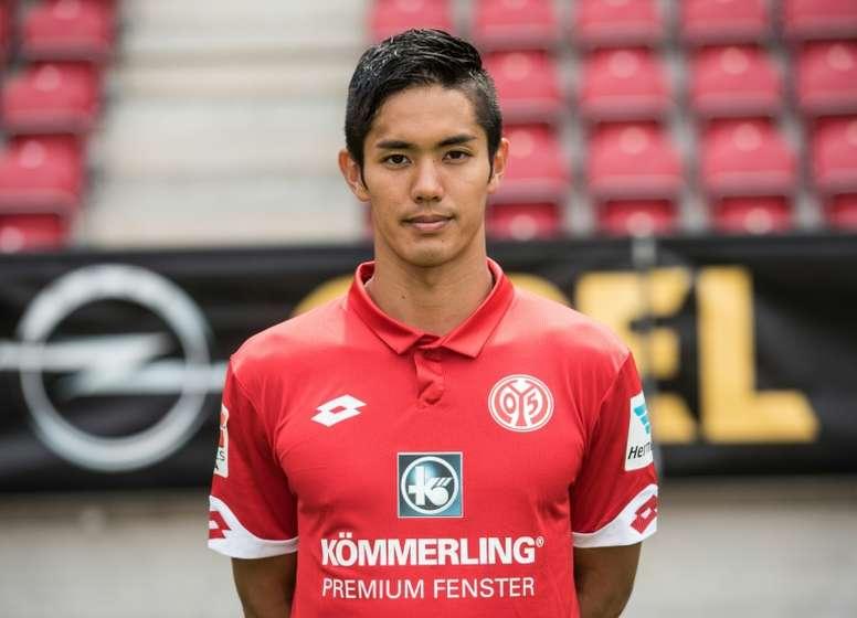 Mainz Japanese forward Yoshinori Muto poses during the 2016-17 German Bundesliga season Photocall on July 25, 2016 in Mainz, Germany