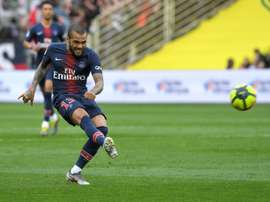 Dani Alves scored a sublime goal for PSG, but it ended in defeat. AFP