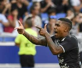 Malcolm (left) scored the equalizer against Lyon. AFP