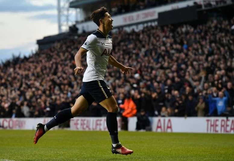 Heung-Min anotó el segundo gol del Tottenham. AFP