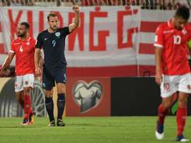 Kane scored a double against Malta. AFP
