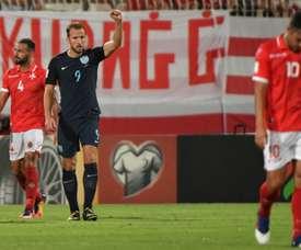Kane scored a double against Malta. AFP