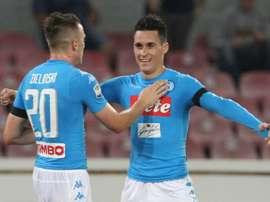 O Napoli bateu o Torino por cinco bolas a zero. AFP