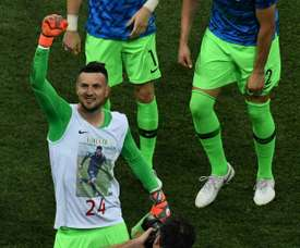 Subasic has been an ever-present in the Croatian goal. AFP