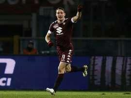 Belotti é a grande estrela do 'Il Toro'. AFP