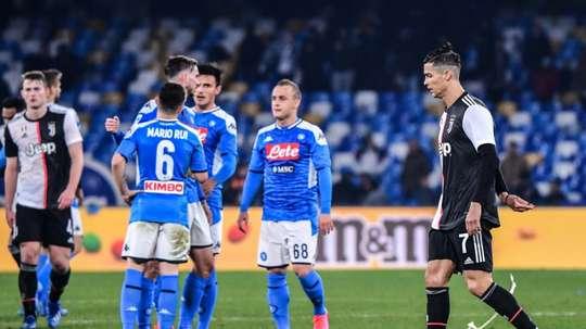 Struggling Napoli shock Sarri's Serie A leaders Juventus. AFP