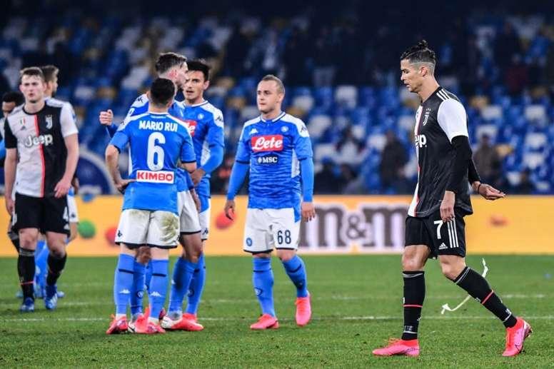 Cristiano, obrigado a descansar contra o Brescia. AFP
