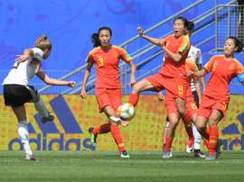 Germany took the lead with Giulia Gwinn scored for Germany. AFP