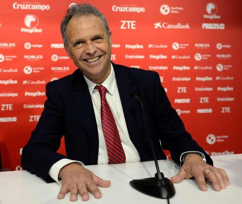 Joaquin Caparros will be Sevilla's caretaker manager. AFP