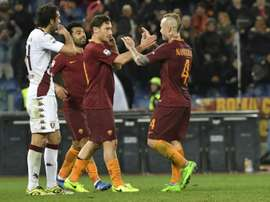 Radja Nainggolan's stunning double led Roma to a deserved win. AFP
