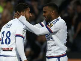 Lyons Nabil Fekir (L) and Alexandre Lacazette are both injured