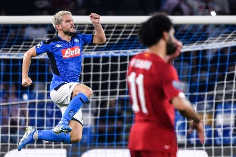 Dries Mertens pourrait quitter librement Naples en 2020. AFP