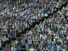 Crowd sourcing: 13,000 cut-outs to attend Gladbach game. AFP
