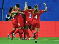 Canada's jessie Fleming scored the opening goal against New Zealand. AFP