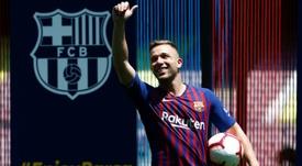 Arthur deixará o Barça no fim da temporada. AFP