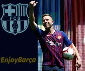 Barça's business with Arthur: a million euros per game. AFP
