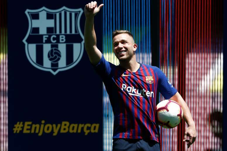Arthur ne veut plus jouer pour le Barça. AFP