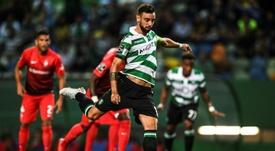 O Atlético poderá não conseguir chegar a acordo com o Sporting por Bruno Fernandes. AFP