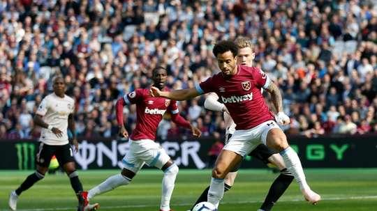 El West Ham venció al United. AFP