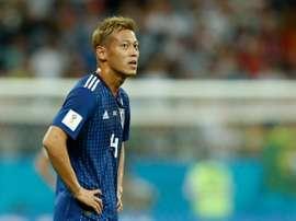 Honda es el nuevo seleccionador de Camboya. AFP