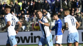 Immobile was the hero for Lazio in their victory at Brescia. AFP