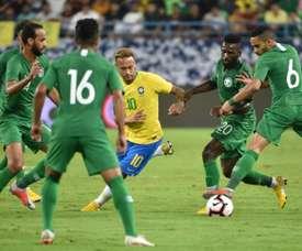 Neymar marcó el ritmo del partido. AFP