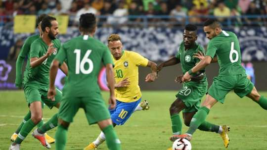 Brasil com força máxima contra os hermanos. AFP