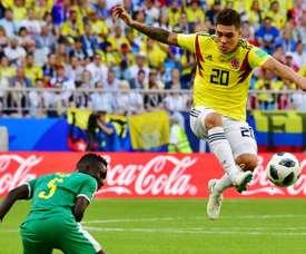 Le Colombien intéresserait le Real Madrid. AFP