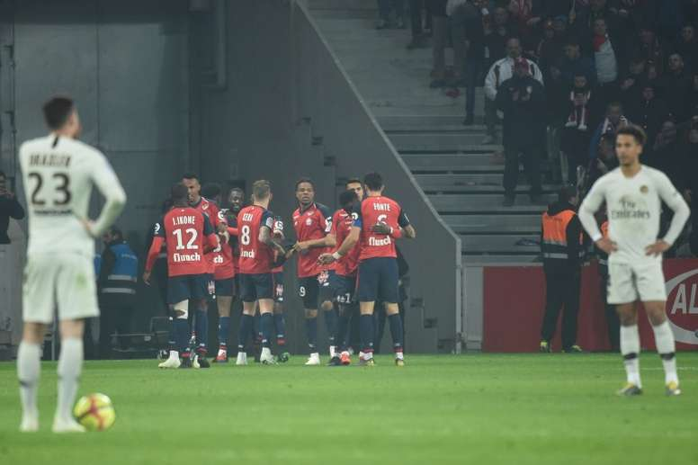 PSG could've won the title this weekend, but instead they lost 5-1 to Lille. AFP