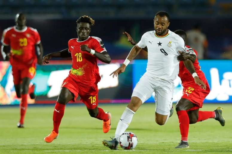 Jordan Ayew  Ghana on the way to a win that clinched top spot in Group F. AFP