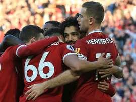 El Liverpool venció 4-0 al Brighton. AFP/Archivo