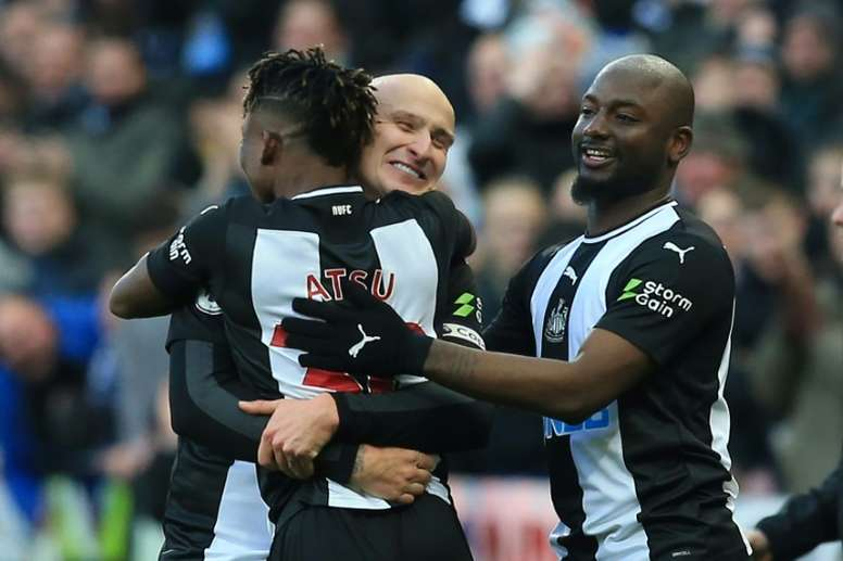 Shelvey anotó el tanto del empate para el Newcastle. AFP/Archivo