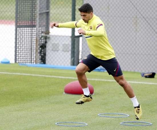 Luis Suárez, gols que são sinônimos de vitória. AFP
