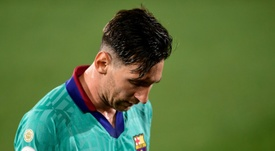 El SOS de Messi sin sonido. AFP