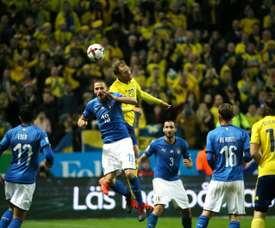 Italy and Sweden played out a goalless draw in Milan on Monday night. AFP