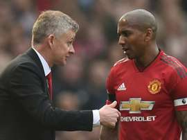 Ashley Young is in confident mood ahead of the trip to PSG. AFP