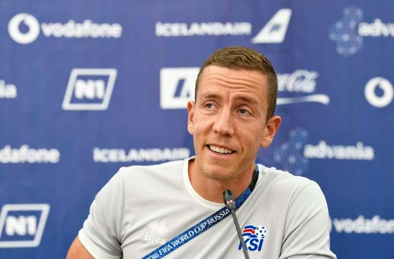 Halldorsson jouera les deux prochaines saisons en Azerbaïdjan. AFP