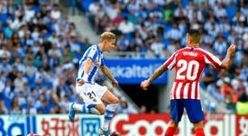 Martin Odegaard, emprestado pelo Real Madrid enfrentará o time no Santiago Bernabéu. AFP