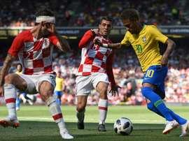 Neymar y Brasil quieren divertirse antes del Mundial. AFP