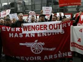 Les supporters étaient nombreux à manifester. AFP