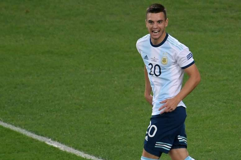 Giovani Lo Celso is expected to complete a move from Real Betis to Tottenham. AFP