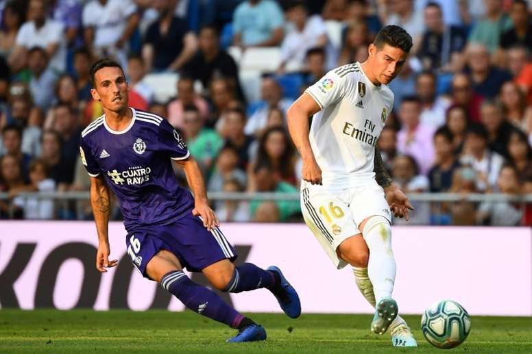 Ven a James Rodríguez en el Atlético de Madrid. AFP