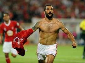 Brigui celebrates his goal. AFP